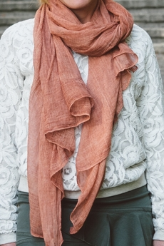 Cream - Monita Scarf Rust Orange