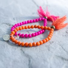 GOODHABIT - Bracelet Orange with tassel