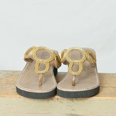 laidback london - Demi wedge Tan Gold 50% REA