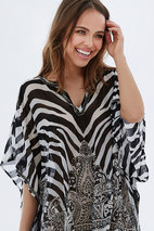 Isay - Glenda Poncho Black Royal