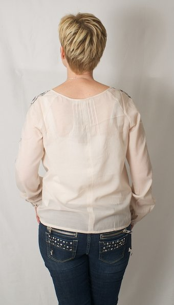 Culture - Molly Mai Blouse Shell Rose Blue
