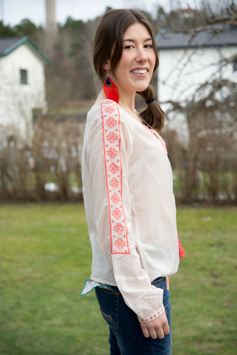Culture - Molly Mai Blouse Shell Rose Pink Orange