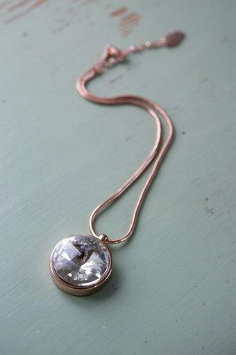 Ioaku -  Necklace The Zen Amulet 45 Rosegold / White