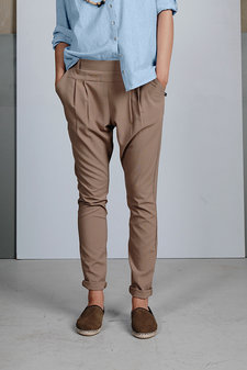 Plus Fine - Olea Pleat Pant Desert