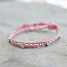 GOODHABIT - Armband Heart Pink Silver