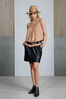 Plus Fine - Alexa Leather Skirt