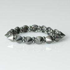 VÅGA - Bracelet Cone Metal Gunmetal