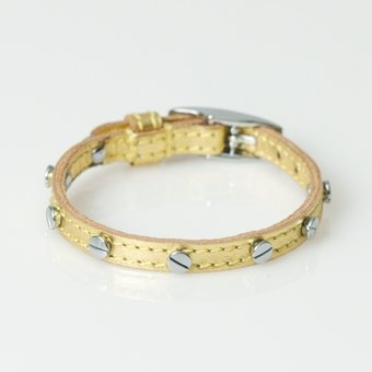B.Loved - Screw Bracelet Python Gold