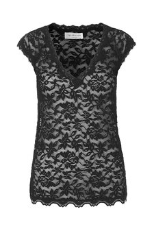 Rosemunde - T-shirt Lace short sleeve Black