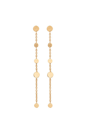 Pernille Corydon - Mini Coin Earchains  Goldplated Silver