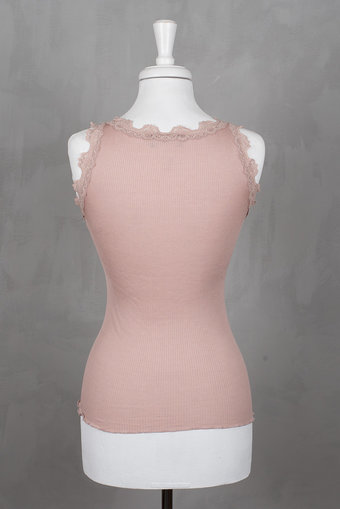 Rosemunde - Silk Top Regular w/vintage lace Powder