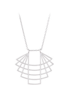 Pernille Corydon - Trace Long Necklace Silver