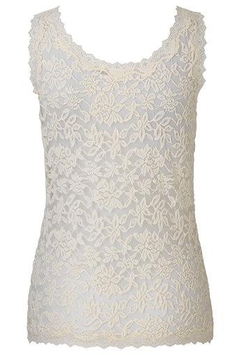Rosemunde - Top Lace sl Ivory