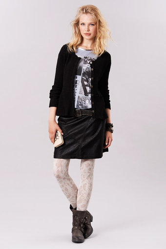 Cream - Soffy Skirt Pitch Black