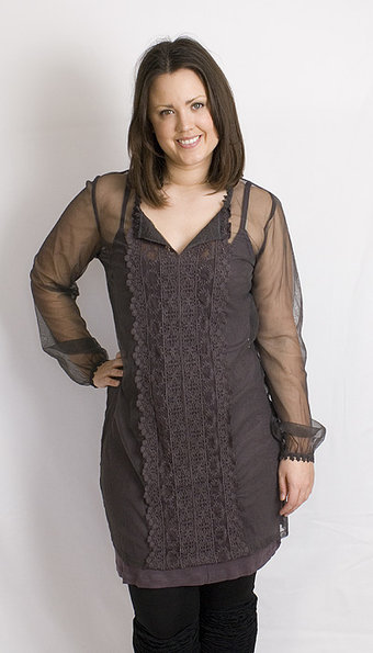 Kaffe - Dress Annabil Lace Dark Zinc