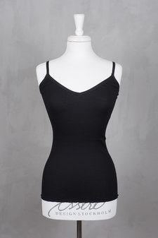 Rosemunde - Silk Top w/elastic band reg length  Black