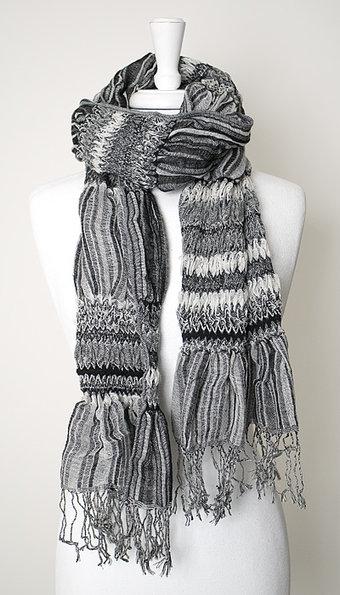 Maya - Scarf Ella Stripes Black