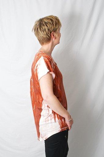Pulz Jeans - Dilla Blouse Orange Leaf