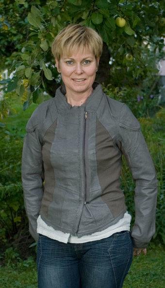 Cream  - Skinnjacka Gabriella Dusky Grey