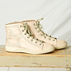 Cream - Tamara Sneakers Waxed Sand 50% REA