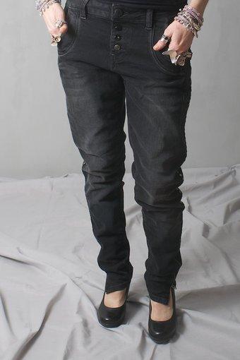 Pulz Jeans - Melina loose jeans Black denim