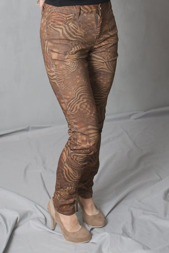 Pulz - Jessica long pant Brown Tiger
