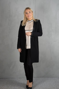 Plus Fine - Coco Long  Blazer Black