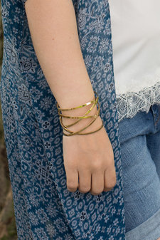 Ingnell Jewellery - Miriam Bangle Gold