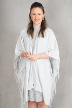 Tif-Tiffy - Alabama Geko Solid Poncho Silver