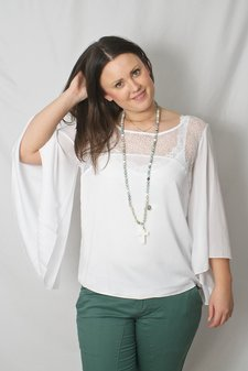 Pulz Jeans - Shai Wing Blouse Optical White