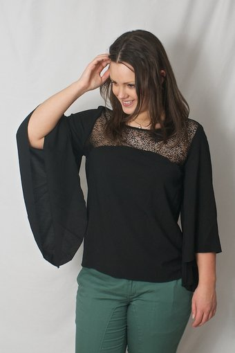 Pulz Jeans - Shai Wing Blouse Black
