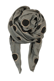 Black Colour - Hayley Scarf Dot Army