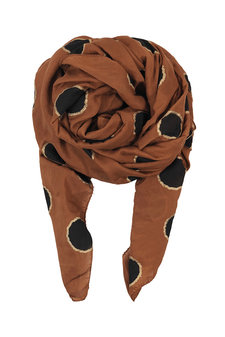 Black Colour - Hayley Scarf Dot Cognac