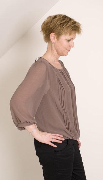 Second Female - Blus Milan Greybrown
