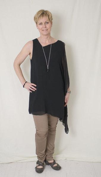 Second Female - Klänning Terry Black