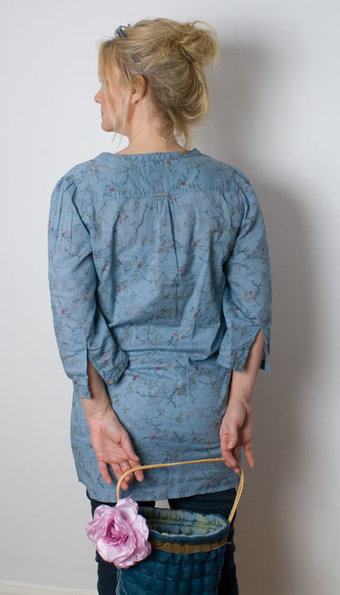 Pulz - Blus Flower Washed Blue