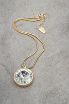 Ioaku -  Necklace The Zen Amulet 45 Gold / White