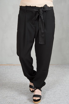 my Sunday Morning - Lenny Belted pants Black