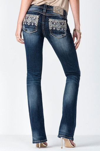 Miss Me - Golden Sunset mid-rise Jeans Bootcut
