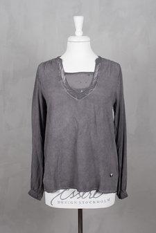 Pieszak - Zen Sequin Shirt Castlerock Grey