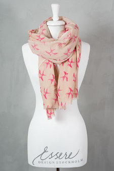 Syster P - Birds Shawl Pink