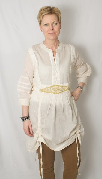 Nü - Tunika Oriental Off -White