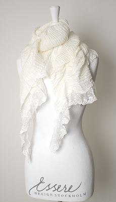 Maya - Scarf Plissé Lace off-white
