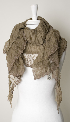 Maya - Scarf Plissé Lace Brown