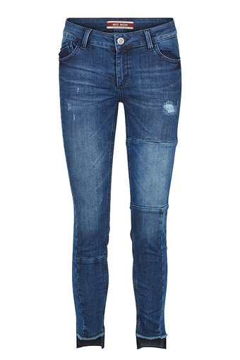 Mos Mosh - Sumner Patch Step Jeans Blue denim