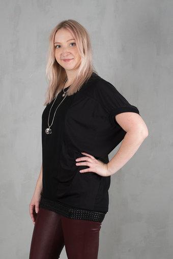 Pulz - Tamarra Bat ls blouse Black