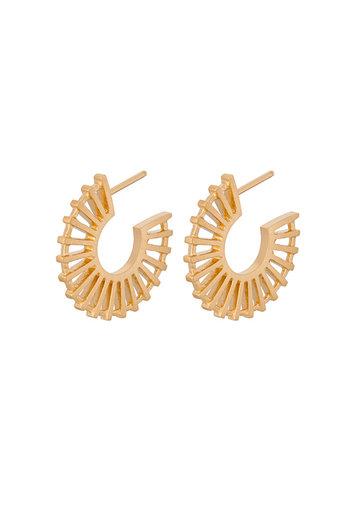 Pernille Corydon - Shadow Earrings Goldplated Silver