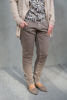 Monrow - Betty Twill Trousers Sand