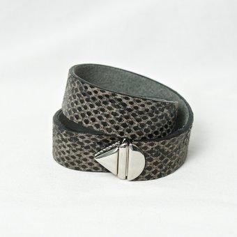 Frontrow Living - Pouw Bracelet Double Python