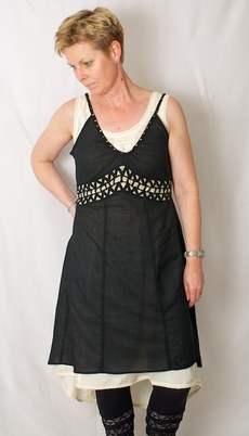Cream - Tammie Dress Pitch Black